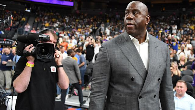 """""""Do you think Jeanie Buss (the team's owner) would allow me to abuse the employees,"""" Johnson asked."""