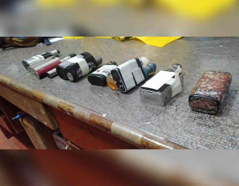 No charges filed but vape devices seized
