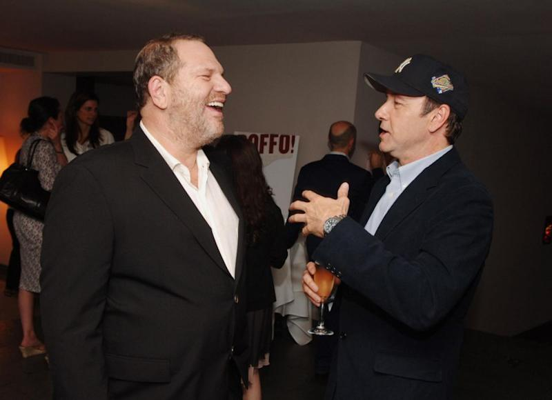Both Harvey Weinstein and Kevin Spacey, pictured together, have been accused of various degrees of sexual abuse. Source: Getty