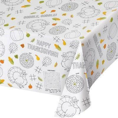 """<p><strong>Creative Converting</strong></p><p>target.com</p><p><strong>$19.99</strong></p><p><a href=""""https://www.target.com/p/3ct-thanksgiving-paper-activity-tablecloth/-/A-78593665"""" rel=""""nofollow noopener"""" target=""""_blank"""" data-ylk=""""slk:Shop Now"""" class=""""link rapid-noclick-resp"""">Shop Now</a></p><p>Decoration <em>and </em>entertainment? Count us in! This fun tablecloth has games for the kids, such as tic-tac-toe. </p>"""