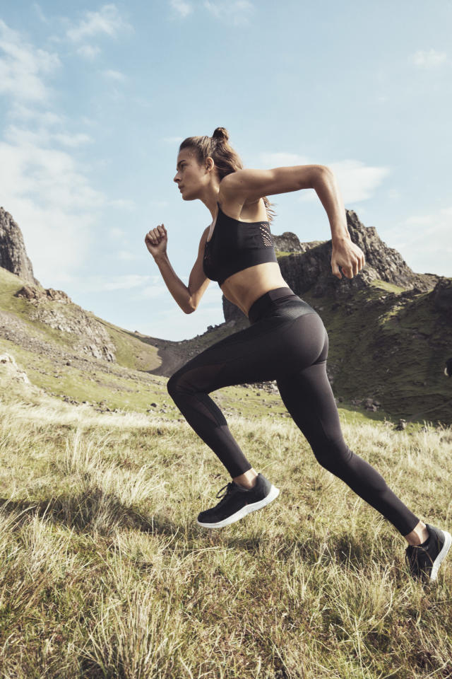 Model wears bra and leggings from the H&M Conscious Sport Collection. (Photo: courtesy of H&M)