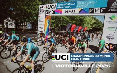 Victoriaville and its Region Will Host the 2026 UCI Gran Fondo World Championships (CNW Group/Ville de Victoriaville)
