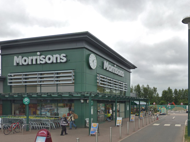 A boy was injured in a Morrisons car park in Exeter when a car drove into parked vehicles: Google Maps