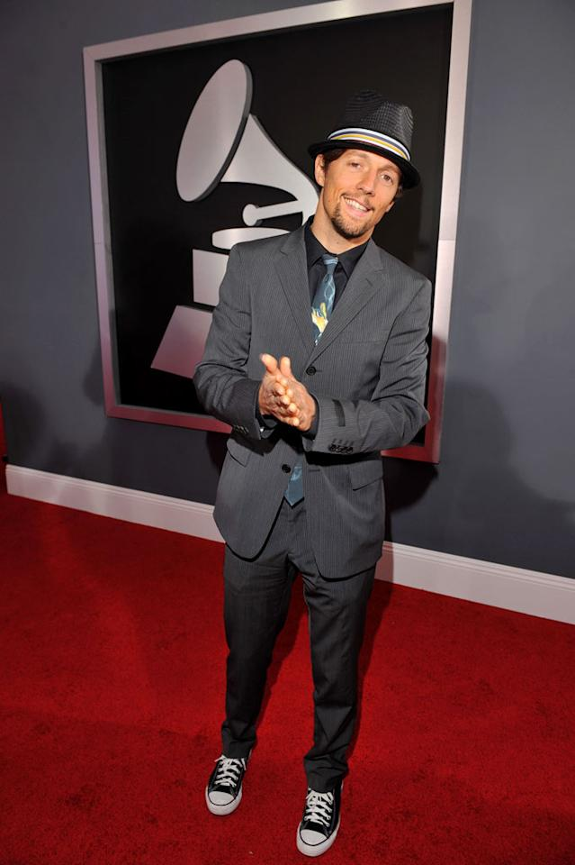 Jason Mraz arrives at the 51st Annual Grammy Awards at the Staples Center on February 8, 2009, in Los Angeles.