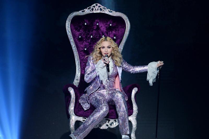 Recording artist Madonna performs a tribute to Prince onstage (Getty Images)