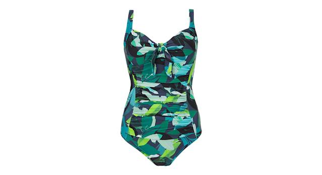 Bali Leaf Ruched Cup Control Swimsuit