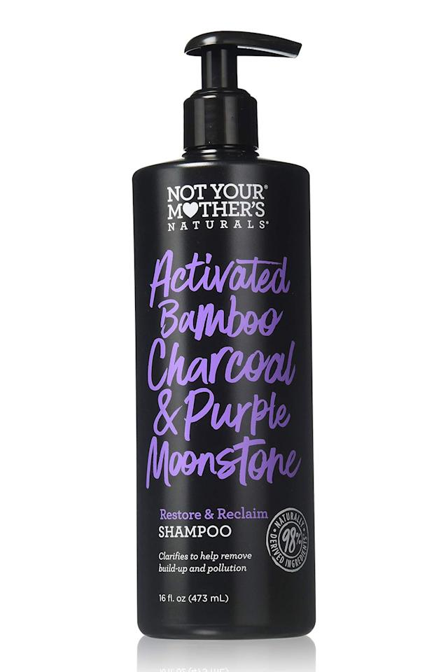 """<p><strong>Not Your Mother's</strong></p><p>ulta.com</p><p><strong>$8.99</strong></p><p><a href=""""https://go.redirectingat.com?id=74968X1596630&url=https%3A%2F%2Fwww.ulta.com%2Factivated-bamboo-charcoal-purple-moonstone-restore-reclaim-shampoo%3FproductId%3DxlsImpprod18721187&sref=http%3A%2F%2Fwww.cosmopolitan.com%2Fstyle-beauty%2Fbeauty%2Fg12230240%2Fbest-sulfate-free-shampoo%2F"""" target=""""_blank"""">Shop Now</a></p><p>Instead of using harsh sulfates, this <a href=""""https://www.cosmopolitan.com/style-beauty/beauty/g20716291/best-clarifying-shampoo/"""" target=""""_blank"""">clarifying shampoo</a> is <strong>filled with activated charcoal to deep-clean your greasy roots without stripping </strong><strong>them</strong>. How? Its key ingredient charcoal, which has absorbent qualities that help get rid of buildup, dirt, and excess oils.<strong></strong></p>"""