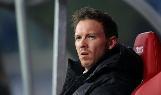 RB Leipzig coach Julian Nagelsmann is pulling out all the stops with his team in the thick of the Bundesliga title race (AFP Photo/Ronny Hartmann)