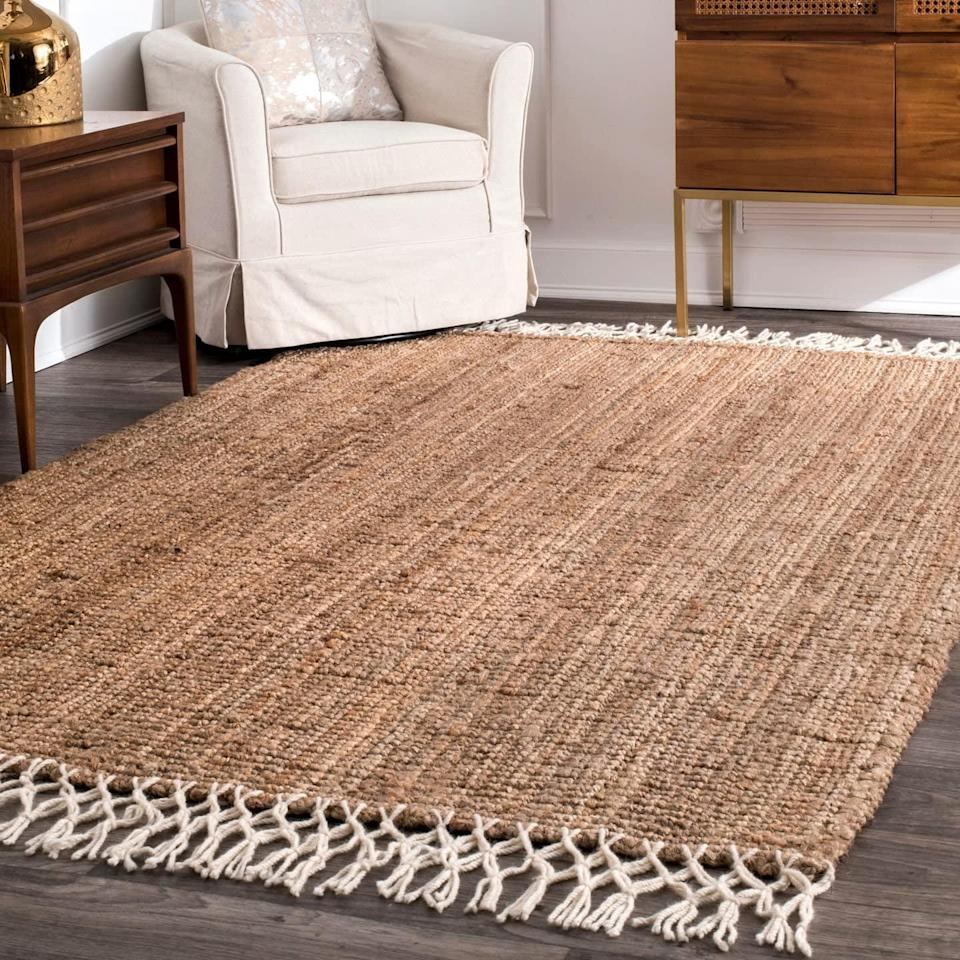 <p>Add a natural element to your room with this jute <span>nuLOOM Raleigh Hand Woven Area Rug, 4' x 6'</span> ($65, originally $107).</p>