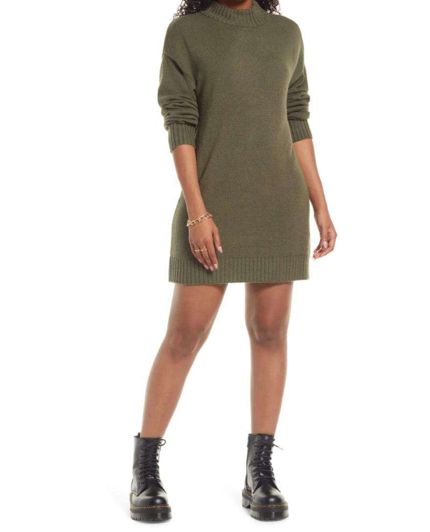 <p>Simplify your fall fashion routine with this <span>BP. Easy Crewneck Long Sleeve Sweater Dress</span> ($49). All you need to do is slip it on and add a few accessories, and you'll be good to go.</p>
