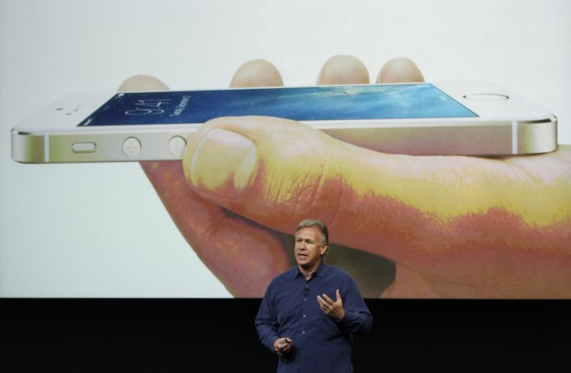 Phil Schiller, senior vice president of worldwide marketing for Apple Inc, talks about the new iPhone 5S at Apple Inc's media event in Cupertino