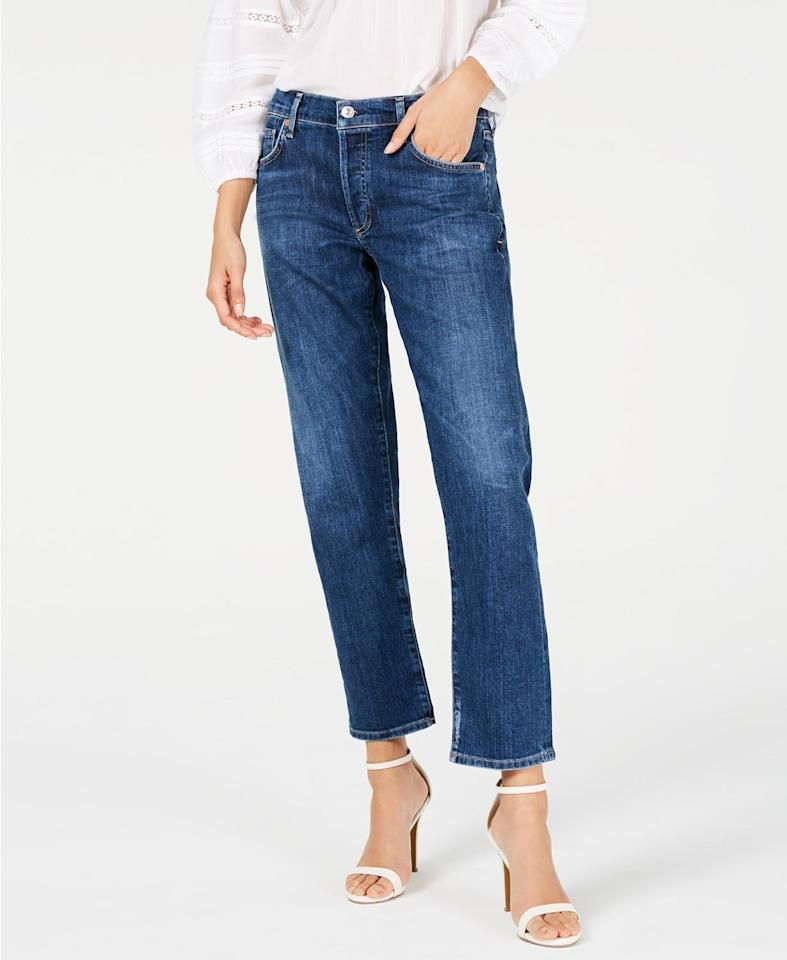 """<p>These comfortable <a href=""""https://www.popsugar.com/buy/Citizens-Humanity-Emerson-Slim-Boyfriend-Jeans-489861?p_name=Citizens%20of%20Humanity%20Emerson%20Slim%20Boyfriend%20Jeans&retailer=macys.com&pid=489861&price=198&evar1=fab%3Aus&evar9=46607110&evar98=https%3A%2F%2Fwww.popsugar.com%2Fphoto-gallery%2F46607110%2Fimage%2F46607111%2FCitizens-Humanity-Emerson-Slim-Boyfriend-Jeans&list1=shopping%2Cfall%20fashion%2Cdenim%2Cjeans%2Cfall%2Cmacys&prop13=api&pdata=1"""" rel=""""nofollow"""" data-shoppable-link=""""1"""" target=""""_blank"""" class=""""ga-track"""" data-ga-category=""""Related"""" data-ga-label=""""https://www.macys.com/shop/product/citizens-of-humanity-emerson-slim-boyfriend-jeans?ID=9018195&amp;CategoryID=3111#fn=BRAND%3DCitizens%20of%20Humanity%26sp%3D1%26spc%3D1966%26ruleId%3D78%7CBOOST%20ATTRIBUTE%7CBOOST%20SAVED%20SET%26searchPass%3DmatchNone%26slotId%3D1"""" data-ga-action=""""In-Line Links"""">Citizens of Humanity Emerson Slim Boyfriend Jeans</a> ($198) are ideal for every day.</p>"""