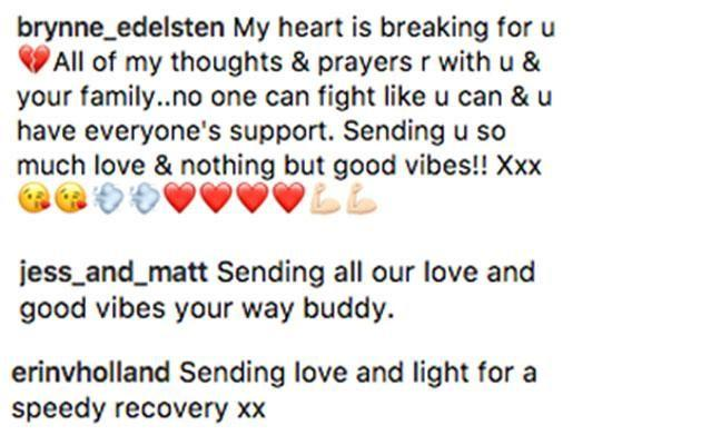 More messages of support for Johnny. Source: Instagram