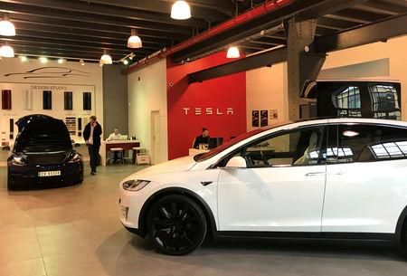 File Photo Tesla Electric Cars Are Seen In The Dealer 39 S Showroom