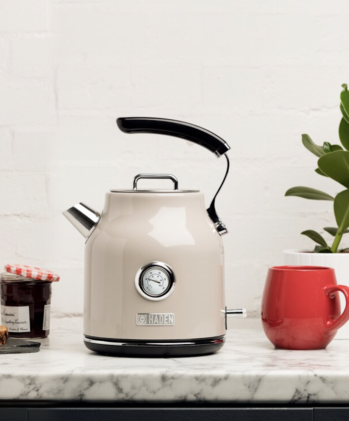 """<h2>Haden Dorset 1.7 Qt. Stainless Steel Electric Tea Kettle</h2><br>If he's more of a tea drinker, he'll feel honored to receive this top of the line stainless steel electric kettle. It offers a temperature scale, convenient water gauge window, light indicator during boiling, auto shut-off (safety first!), and a spare filter. He'll also definitely approve of the high-end design.<br><br><em>Shop Haden US at <a href=""""https://www.wayfair.com/brand/bnd/haden-b53601.html"""" rel=""""nofollow noopener"""" target=""""_blank"""" data-ylk=""""slk:Wayfair"""" class=""""link rapid-noclick-resp""""><strong>Wayfair</strong></a></em><br><br><strong>Haden US</strong> Dorset 1.7 Qt. Stainless Steel Electric Tea Kettle, $, available at <a href=""""https://go.skimresources.com/?id=30283X879131&url=https%3A%2F%2Fwww.wayfair.com%2Fkitchen-tabletop%2Fpdp%2Fhaden-us-haden-dorset-17-qt-stainless-steel-electric-tea-kettle-hden1143.html"""" rel=""""nofollow noopener"""" target=""""_blank"""" data-ylk=""""slk:Wayfair"""" class=""""link rapid-noclick-resp"""">Wayfair</a>"""