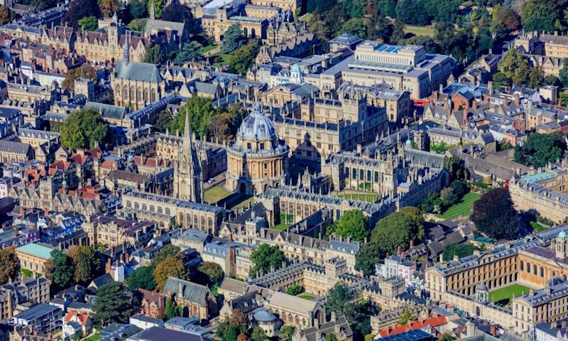 Oxford University aerial photo