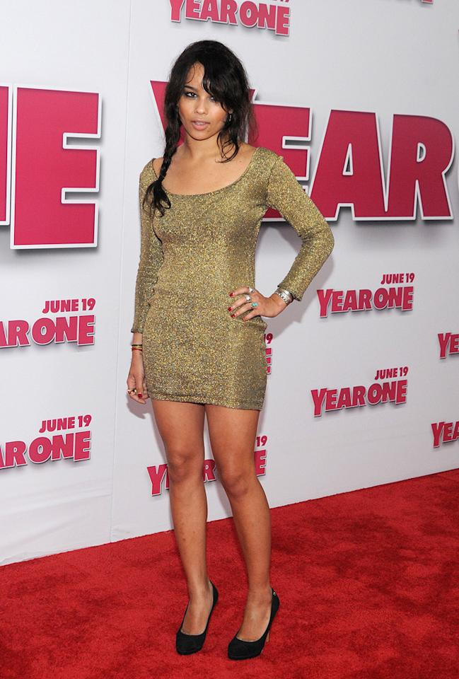 """<a href=""""http://movies.yahoo.com/movie/contributor/1809753401"""">Zoe Kravitz</a> at the New York premiere of <a href=""""http://movies.yahoo.com/movie/1809981033/info"""">Year One</a> - 06/15/2009"""