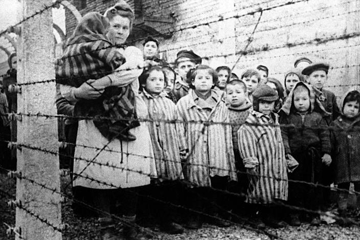 Children liberated from Auschwitz in World War II, 1945
