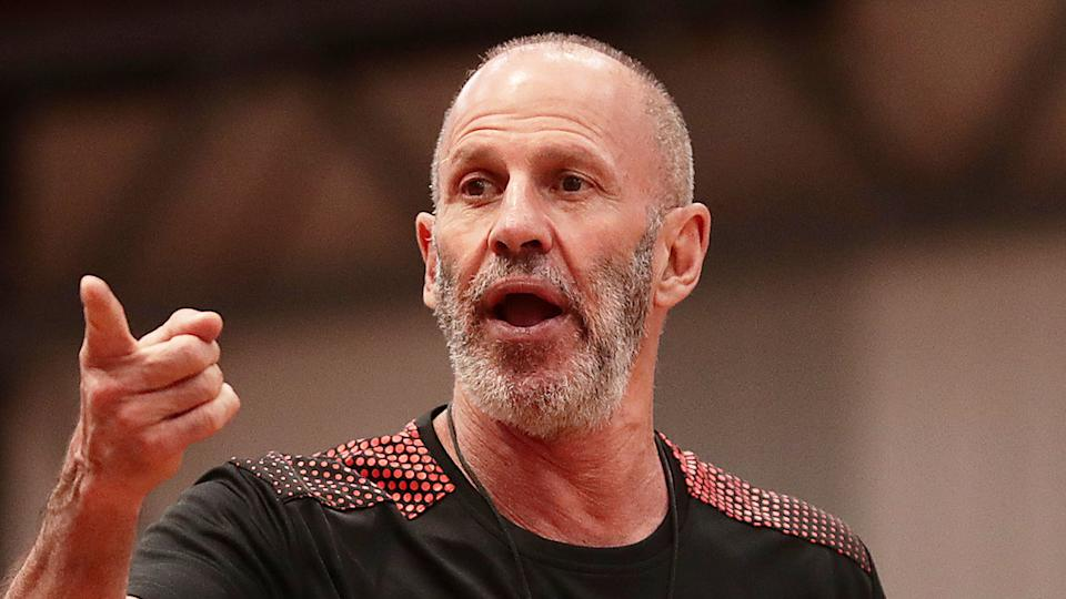 Pictured here, Brian Goorjian is the current coach of the NBL's Illawarra Hawks.