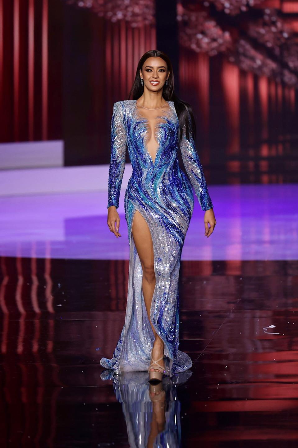 Miss Thailand at the 2021 Miss Universe competition on May 16
