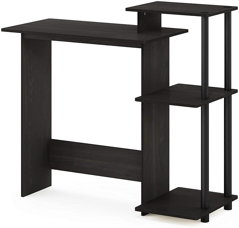 <p>If you live in a small space, the <span>Furinno Efficient Home Desk With Square Side Shelves</span> ($34, originally $60) will let you create a separate workspace.</p>