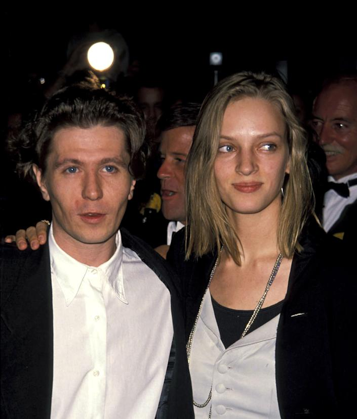 "How did we miss this? <a href=""http://www.zimbio.com/dating/3zGpPZJkBxZ/Gary+Oldman+married+Uma+Thurman/Gary+Oldman"" rel=""nofollow noopener"" target=""_blank"" data-ylk=""slk:Gary Oldman and Uma Thurman were married"" class=""link rapid-noclick-resp"">Gary Oldman and Uma Thurman were married</a> from 1990 - 1992."
