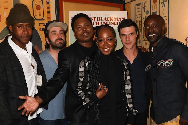 "LOS ANGELES, CALIFORNIA - JUNE 03: (L-R) Jimmie Fails, Joe Talbot, Willie Hen, Tichina Arnold, Finn Wittrock and Rob Morgan attends the special screening of ""The Last Black Man In San Francisco"" at the Vista Theatre on June 03, 2019 in Los Angeles, California. (Photo by Paul Archuleta/Getty Images)"
