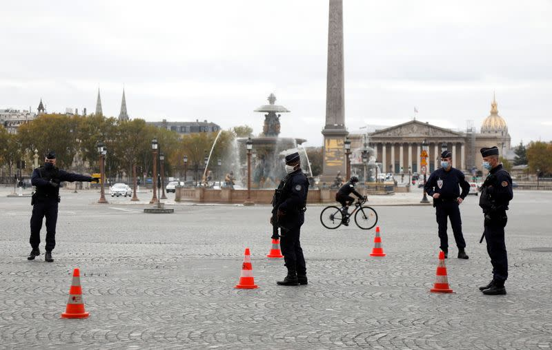 Paris during the second national lockdown due to the spread of COVID-19 infection