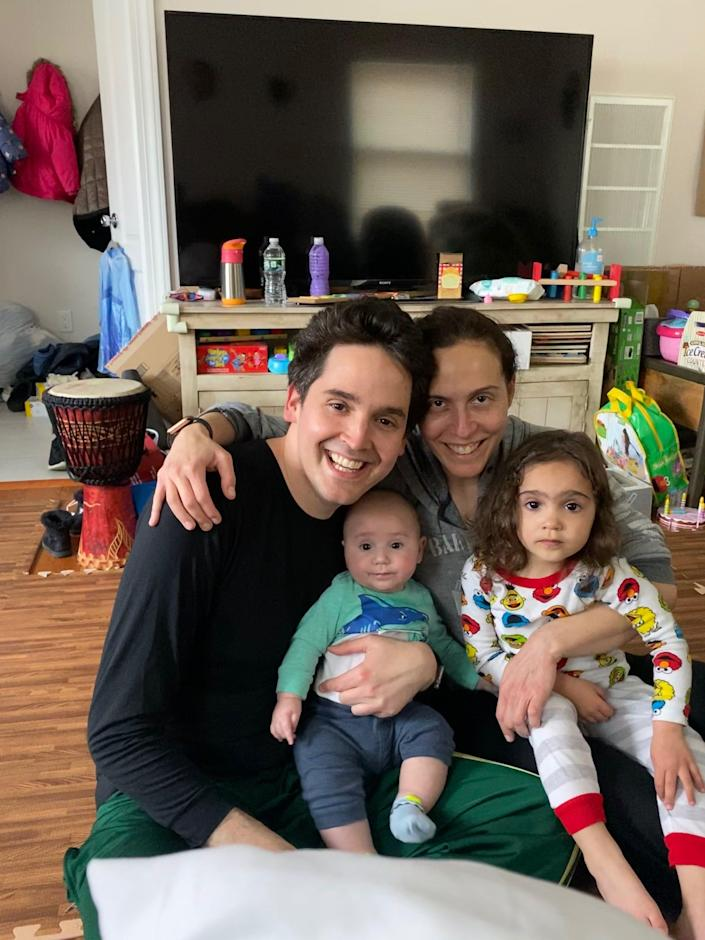 Scott Krackover with his wife Heather and two children.