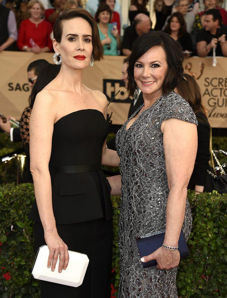 Sarah Paulson and Marcia Clark became fast friends while drinking tequila. (Photo by Jordan Strauss/Invision/AP)