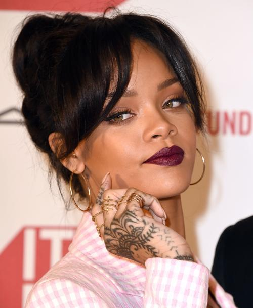 Rihanna Makes A Strong Case for Bold Lips