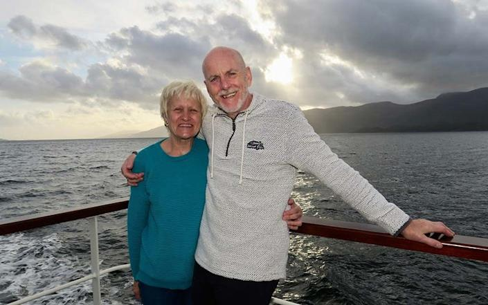 couple on board cruise - Dave Monk