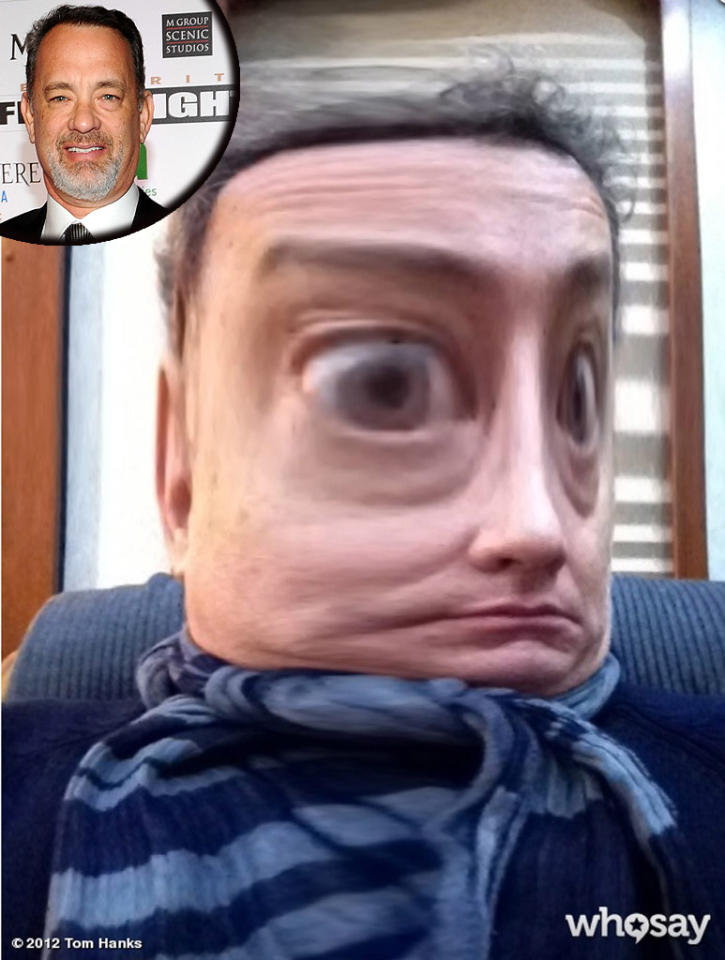 """Tom Hanks had a little fun with photos when he posted this unrecognizable picture of himself to his <a target=""""_blank"""" href=""""http://www.whosay.com/TomHanks/photos/200182"""">WhoSay page</a> in honor of his birthday on Monday. """"Thanx for the B'Day wishes.! Born in '56, turning 56. That mean anything? Not bad looking for 56, eh? Hanx."""" We have to say, you've looked better than this, Tom! (7/9/2012)"""