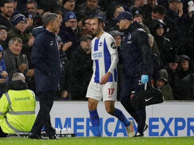 Glenn Murray: Brighton striker awaiting test results on shoulder injury incurred against Crystal Palace