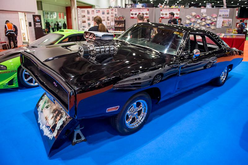 LONDON, ENGLAND - MAY 25: A 1970 Dodge Charger R/T used on screen by Vin Diesel as the signature car of his character Dominic Toretto in the Fast and The Furious (2001) seen on Day 1 of the MCM London Comic Con at The ExCel on May 25, 2018 in London, England. (Photo by Ollie Millington/Getty Images)