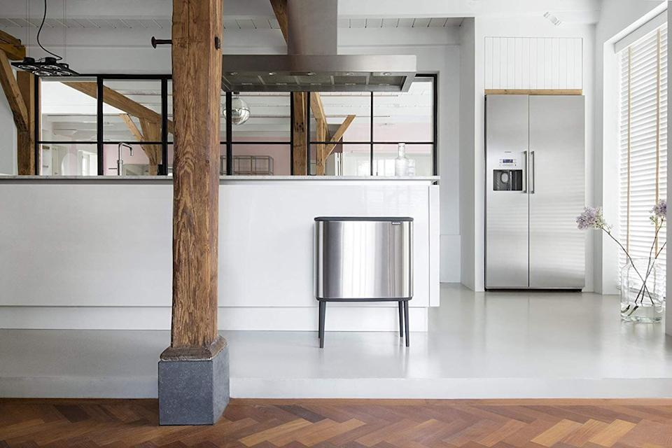 The Bo Touch Bin holds court in a modern space (Photo: Brabantia)