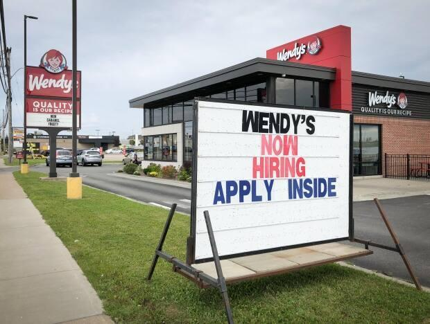 The Wendy's restaurant in Sydney, N.S., is shown on Thursday. (Tom Ayers/CBC - image credit)