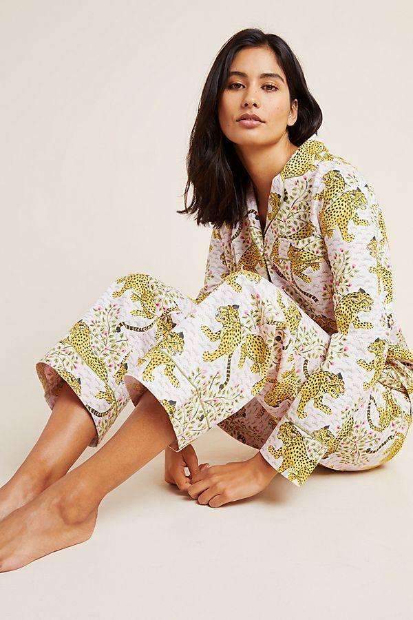 "<p><strong>Printfresh</strong></p><p>anthropologie.com</p><p><strong>$118.00</strong></p><p><a href=""https://go.redirectingat.com?id=74968X1596630&url=https%3A%2F%2Fwww.anthropologie.com%2Fshop%2Fcheetah-sleep-set&sref=https%3A%2F%2Fwww.housebeautiful.com%2Fshopping%2Fg31669523%2Fchic-pajama-sets%2F"" rel=""nofollow noopener"" target=""_blank"" data-ylk=""slk:Shop Now"" class=""link rapid-noclick-resp"">Shop Now</a></p>"
