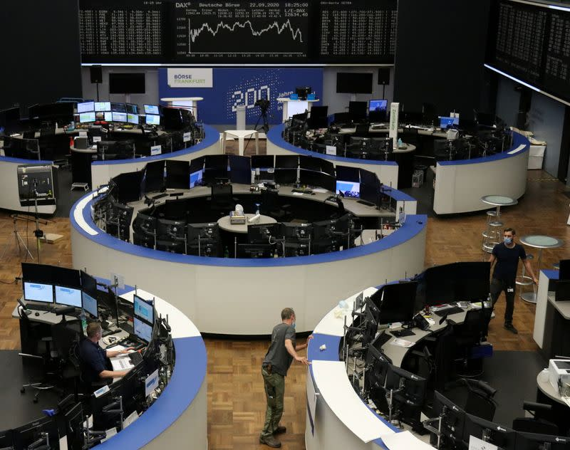 Bank stocks bounce off record low, helping Europe recover some lost ground
