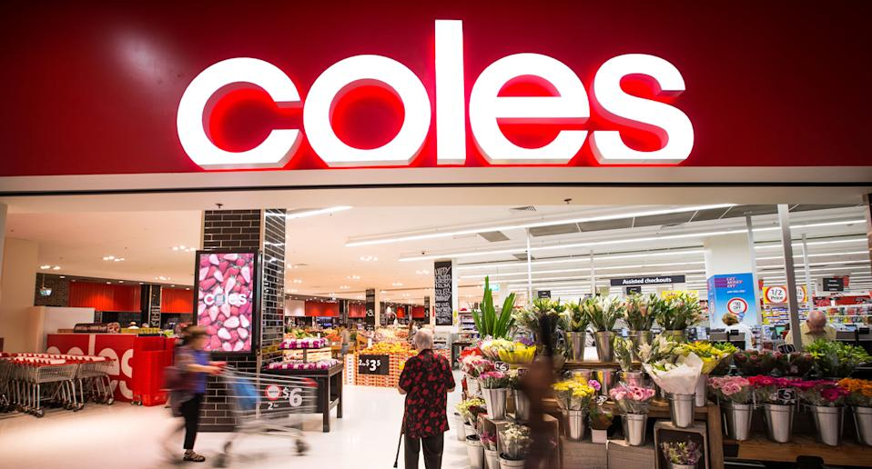 Front of Coles store as scammers target the retailer.