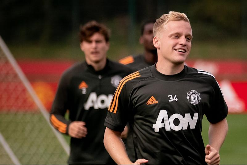 Donny van de Beek is the only new arrival this summer at Old Trafford Photo: Manchester United via Getty Images