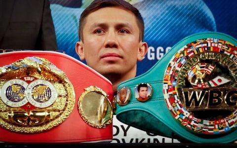 <span>Two of Golovkin's world title belts will be on the line in Las Vegas</span> <span>Credit: AP </span>