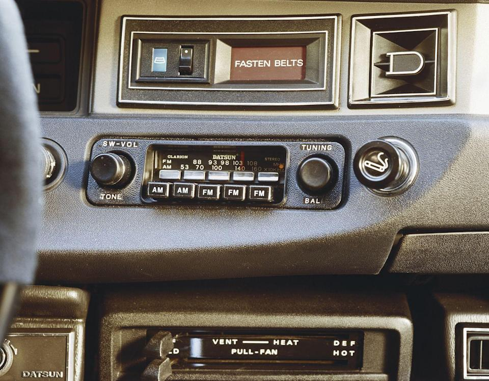 <p>In the car, there were two options: AM and FM.</p>