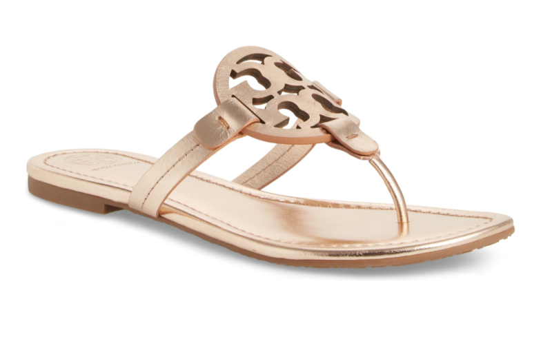 Tory Burch Miller Flip Flop in Rose Gold