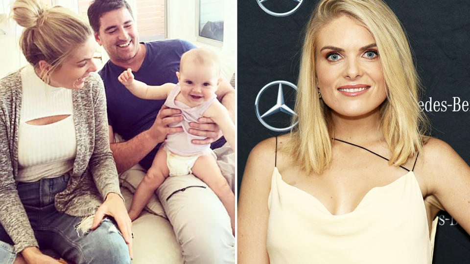 Erin Molan and Sean Ogilvy, pictured here with their daughter.