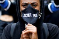 FILE PHOTO: A Black Lives Matter protest in London