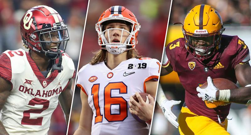 Who will dominate the college fantasy football season? (Photos by George Walker/Icon Sportswire/Sean M. Haffey/Jacob Snow via Getty Images)