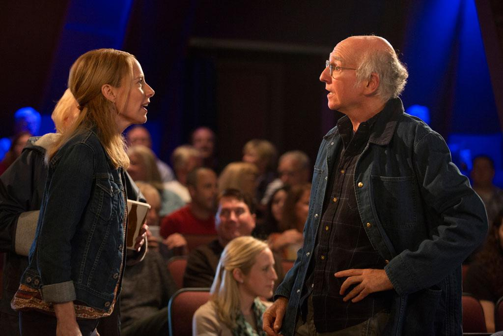 """Amy Ryan and Larry David in HBO Films' """"Clear History."""""""