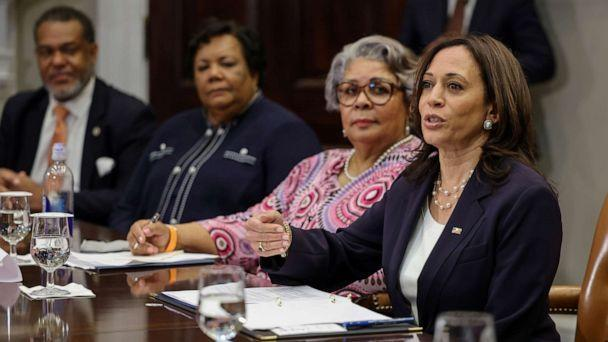 PHOTO: Vice President Kamala Harris hosts members of Texas State Senate and Texas House of Representatives at the White House in Washington, June 16, 2021. (Evelyn Hockstein/Reuters)