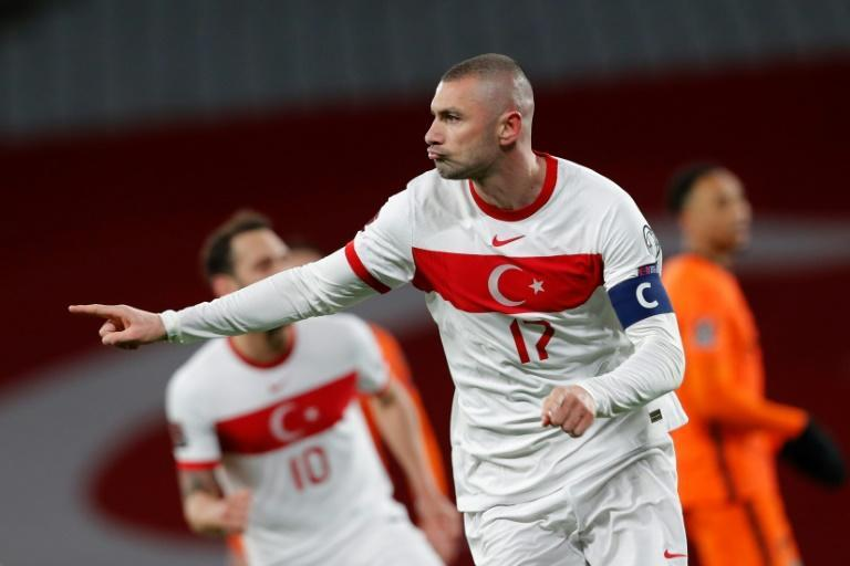 Yilmaz's hat-trick helped fire Turkey to a stunning win over the Netherlands